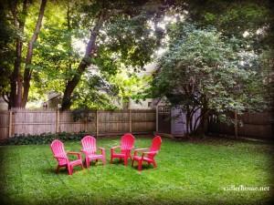 Backyard at Sadler House midcoast Maine
