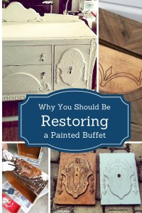 Refinishing a Depression Era Buffet Without Paint - Uncover Its Beauty