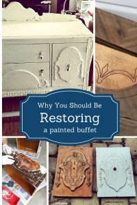 Refinishing a Buffet - Depression Era Buffets are gorgeous underneath layers of paint