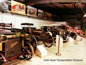 Old cars at the Owls Head Transportation Museum