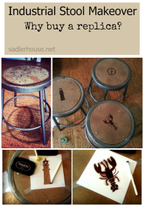Industrial Stool Makeover