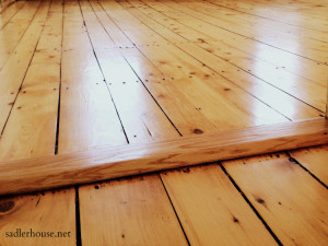 Century-old Heart Pine Floors