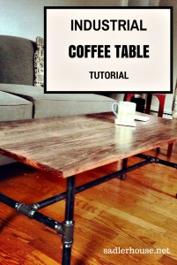 Industrial Coffee Table with Plumbing Parts