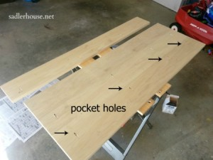 Industrial Coffee Table Pocket Holes - Sadler House