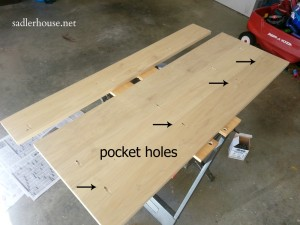 Industrial Coffee Table - pocket holes