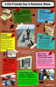 Kid-Friendly Day in Rockland, Maine Infographic