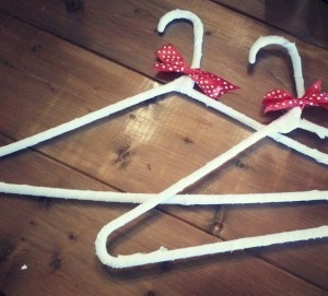DIY cloth hangers - Sadler House