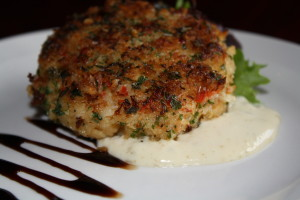 Crab cake at Rockland Restaurant Eclipse