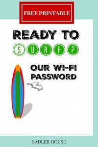 Free Coastal WiFi Password Sign