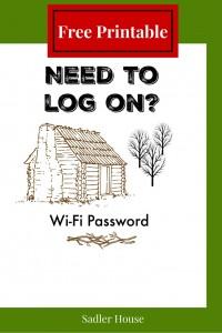 Wi Fi Password Sign - Free Printable