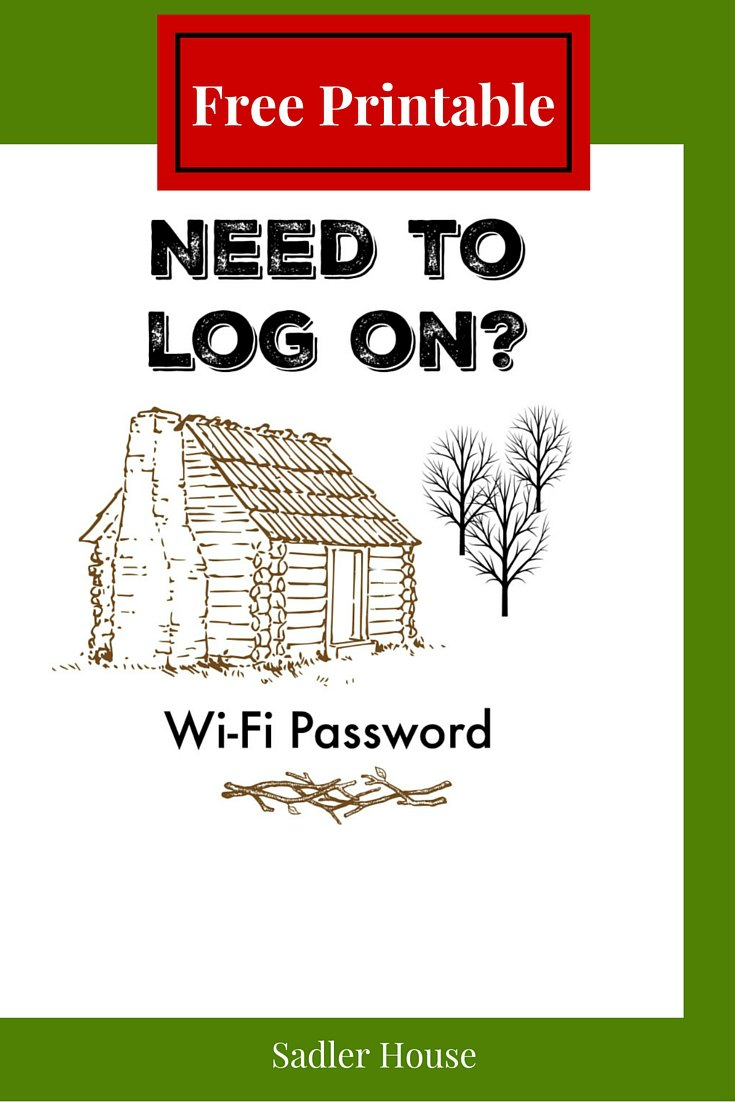 WiFi Password Sign - Free Printable