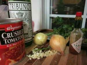 Mussels Marinara Ingredients - Sadler House