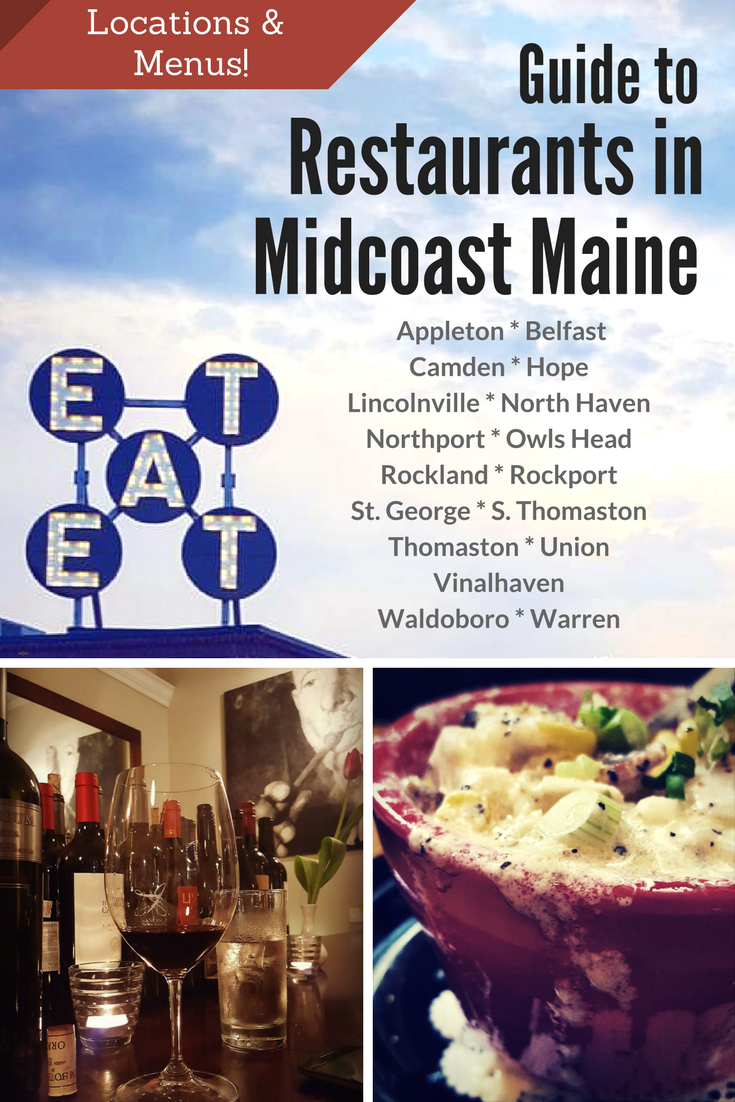 Midcoast Maine restaurants are flourishing! Check out our list of all the restaurants we can keep up with in the towns of Midcoast Maine including locations and menu links! #Maine #midcoastmaine #travel #vacation #restaurants #food