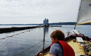 Sailing in Maine - Rockland Breakwater